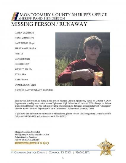 Missing Person / Runaway
