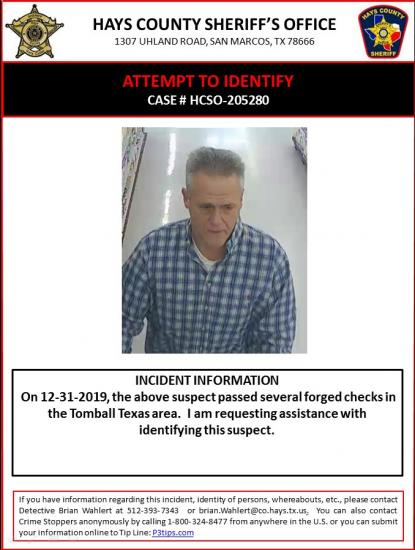 Forgery Suspect Sought By Investigators