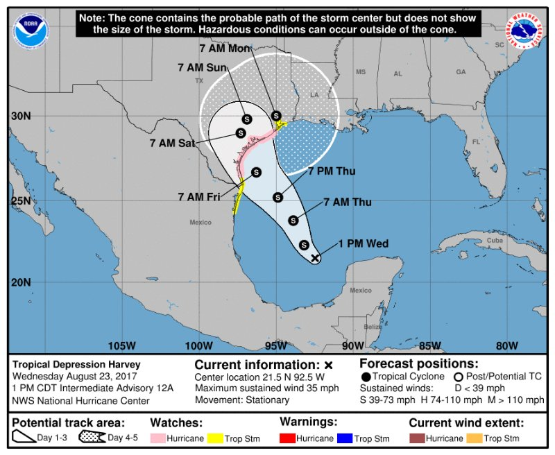 Harvey Threatening, Wet Weekend Ahead