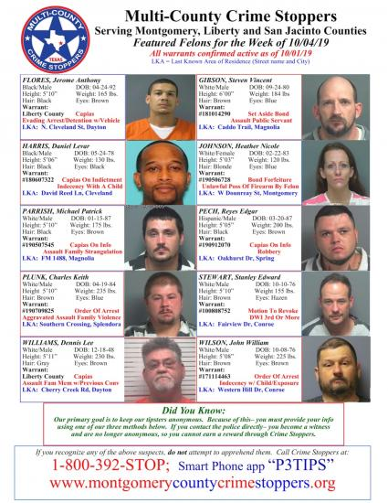 Featured Felons - 10/04/19