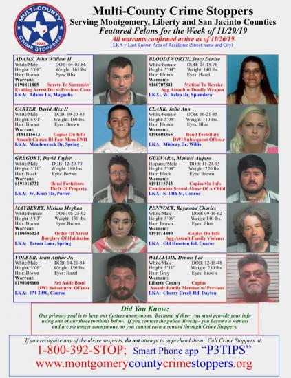 Featured Felons - 11/29/19